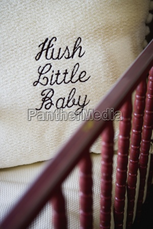 hush little baby throw pillow in