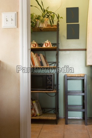 vignette of kitchen wall unit and