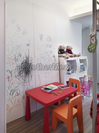 kids table in play room