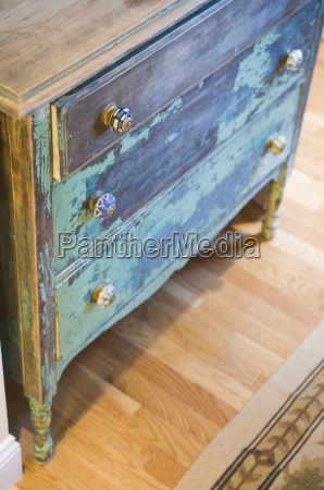 old painted dresser