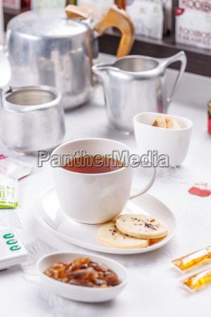 tea and shortbread biscuit