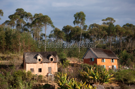 houses in the hills near to