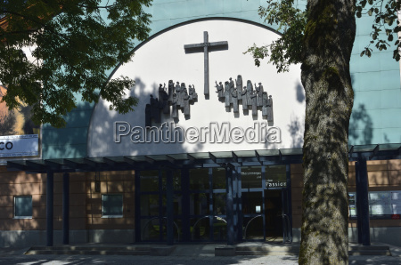 entrance to the passion theater oberammergau