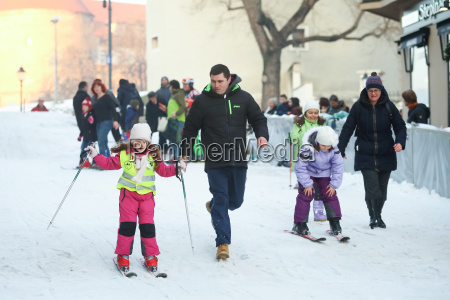 los ninyos de esqui en centro