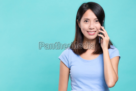 woman talk to mobile phone