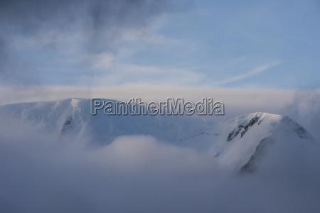 azul paseo viaje color niebla horizontalmente