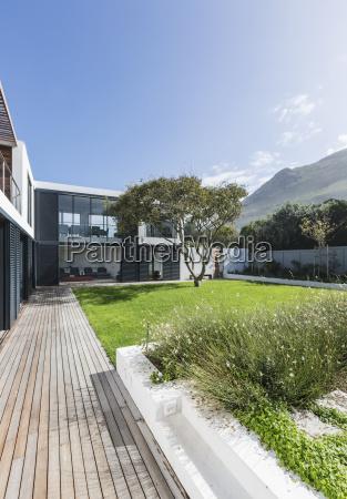 luxury home showcase exterior patio and