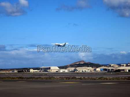 fiesta vacaciones turismo canario aeropuerto helice
