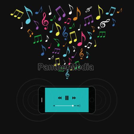 telefono azul movil objeto musica sonido