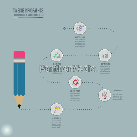 education infographics template 5 step option